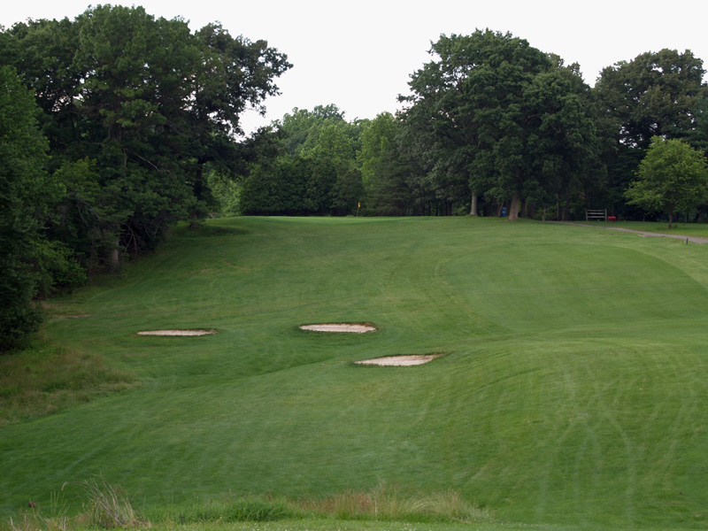 View of eleventh hole from the tee. Click to enlarge