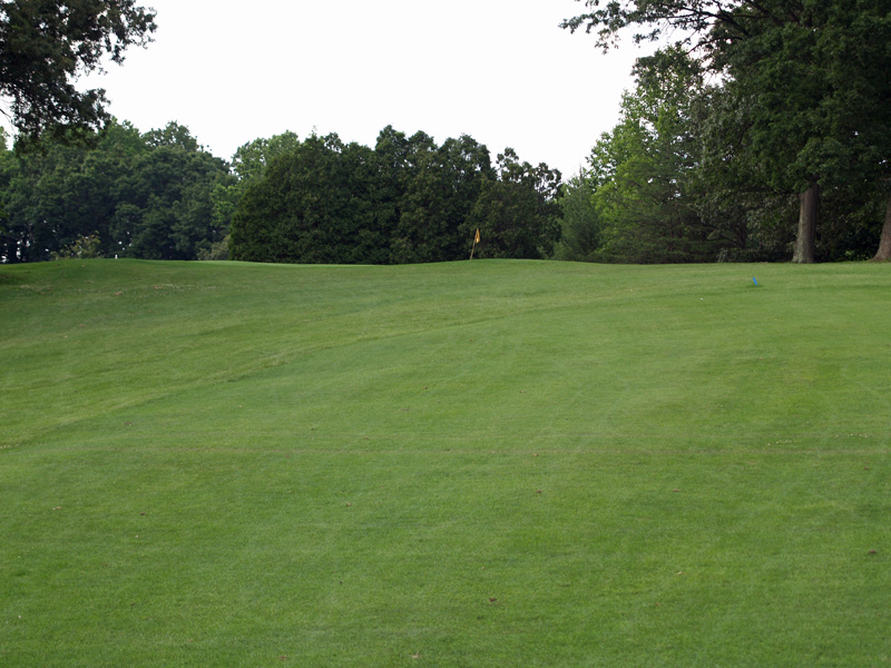 View of eleventh hole uphill toward the green from about 110 yrds. Click to enlarge