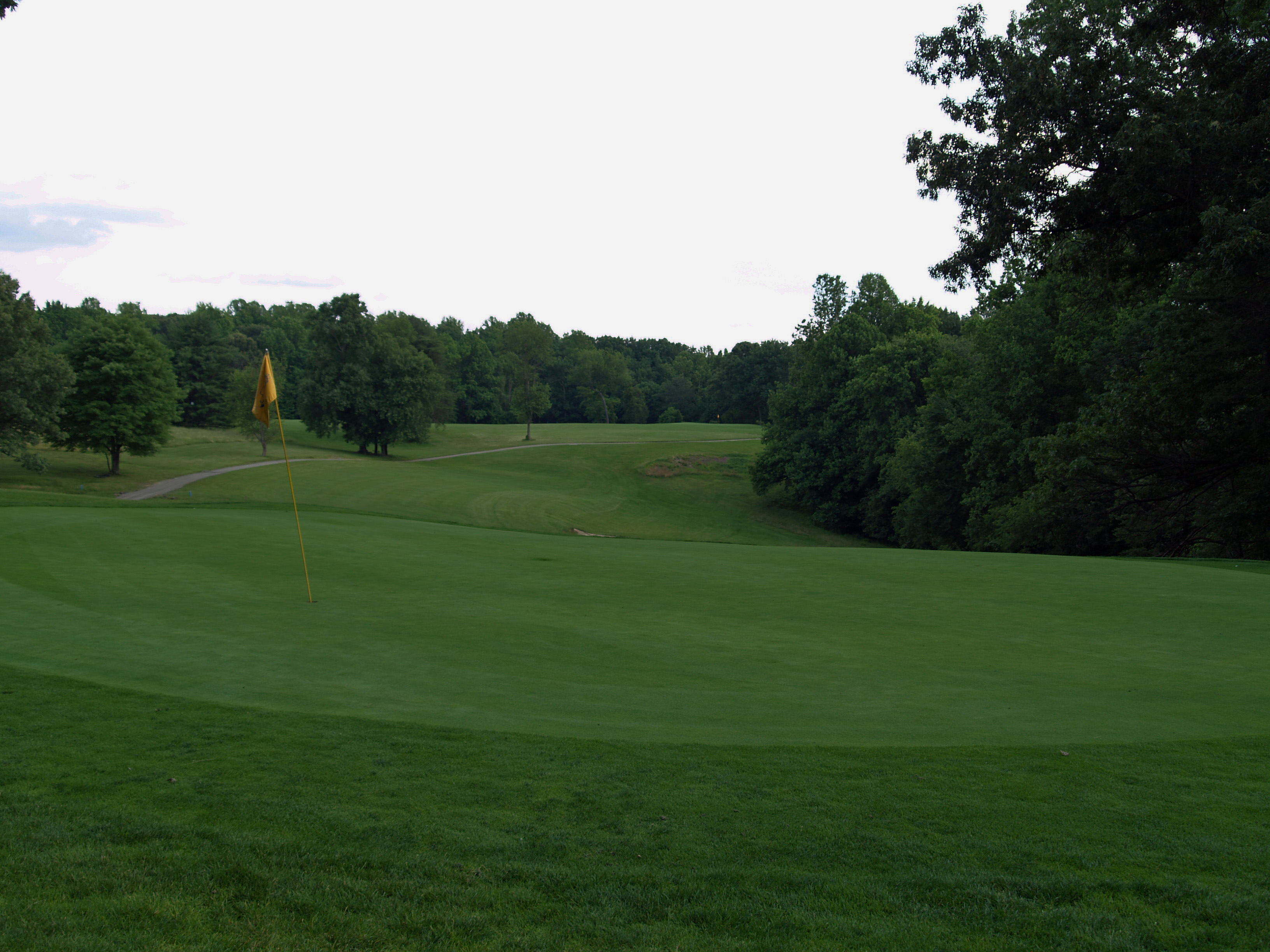 View of eleventh hole from behind the green toward the tee. Click to enlarge