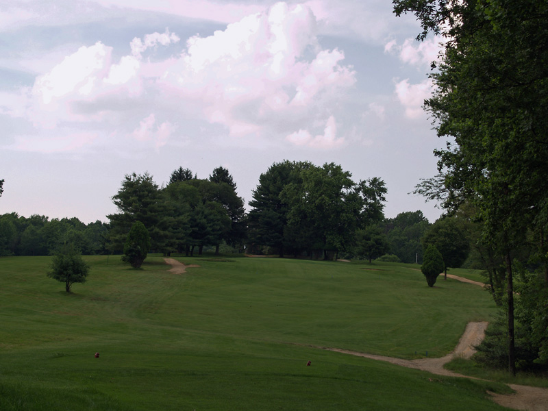View of thirteenth hole from the tee. Click to enlarge