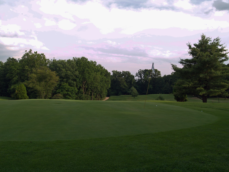 View of thirteenth hole from behind the green toward the tee. Click to enlarge