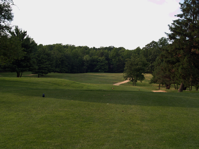View of fourteenth hole from the tee. Click to enlarge