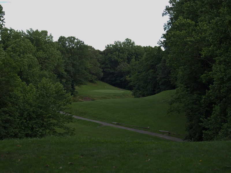 View of sixteenth hole from the tee. Click to enlarge
