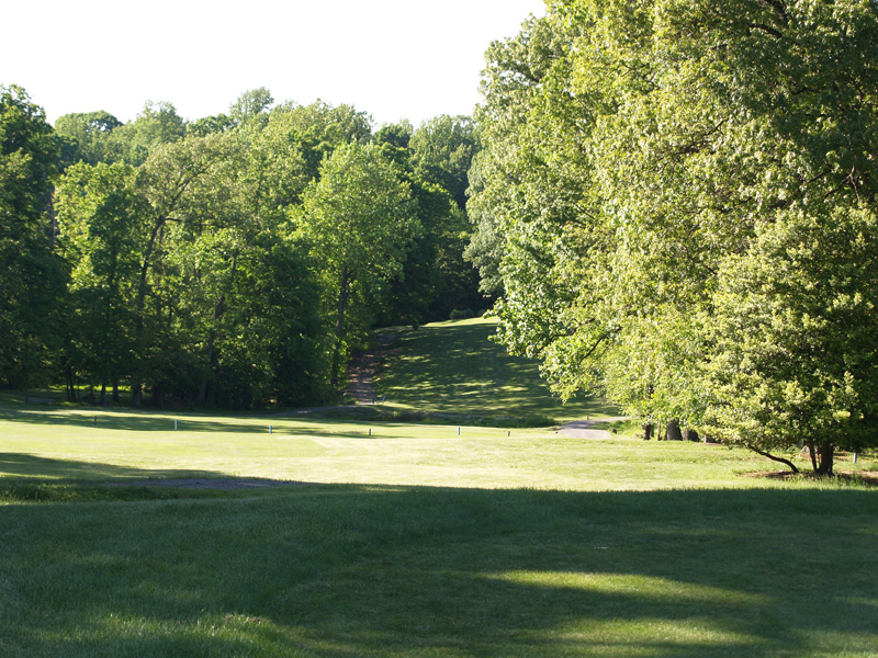 View of third hole from the tee. Click to enlarge