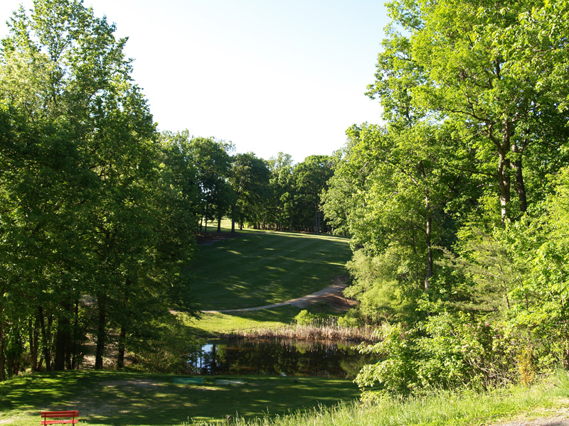 View of fifth hole from the tee. Click to enlarge